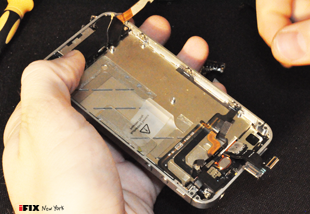 Part of our iPhone repair in NYC